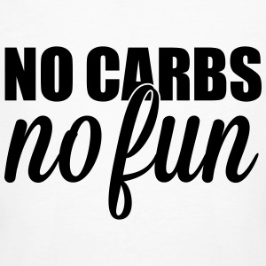 no carbs no fun T-shirts - Mannen Bio-T-shirt