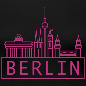 Berlin // @ddicted (black) - Frauen Premium T-Shirt