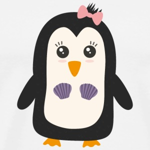 Penguin with bikini T-Shirts - Men's Premium T-Shirt
