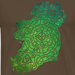 Celtic Map of Ireland T-Shirts - Männer Premium T-Shirt