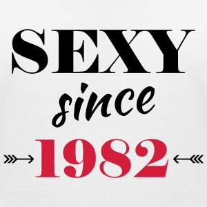 Sexy since 1982 T-shirts - T-shirt med v-ringning dam