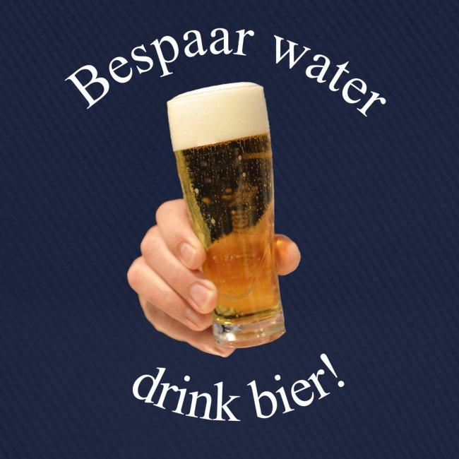 Bespaar water, drink bier! Cap
