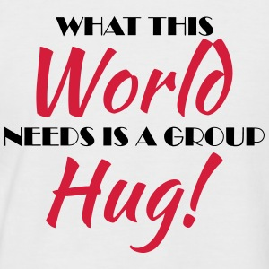 What this world needs is a group hug! T-shirts - Kortärmad basebolltröja herr