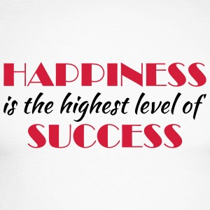 Happiness is the highest level of success Shirts met lange mouwen - Mannen baseballshirt lange mouw