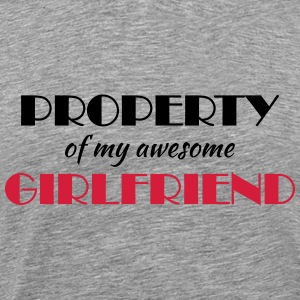 Property of my awesome girlfriend T-shirts - Herre premium T-shirt