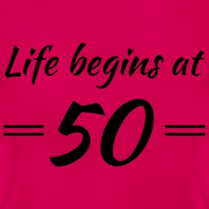 Life begins at 50 T-Shirts - Women's T-Shirt