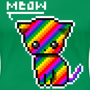 rainbow_kitty_meow T-Shirts - Frauen Premium T-Shirt