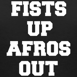 fists up afros out Camisetas - Camiseta con escote en pico mujer