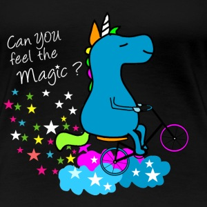 Can you feel the magic Unicorn? T-Shirts - Frauen Premium T-Shirt