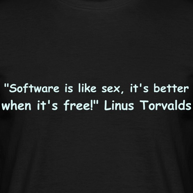 Software is like sex!
