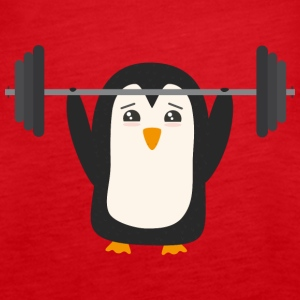 Penguin weight lifting Tops - Women's Premium Tank Top