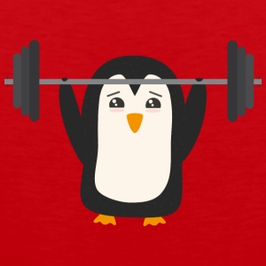 Penguin weight lifting Sports wear - Men's Premium Tank Top