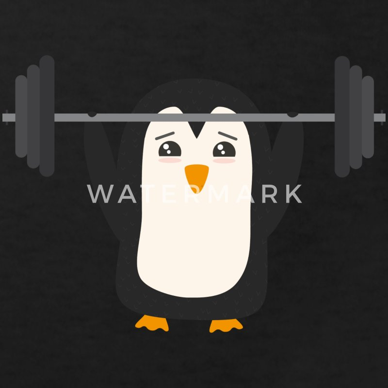 Penguin weight lifting Shirts - Kids' Organic T-shirt