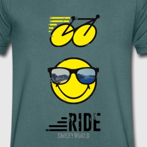 SmileyWorld RIDE Bike - Herre T-shirt med V-udskæring