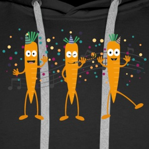 Party carrots Hoodies & Sweatshirts - Men's Premium Hoodie