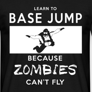 Base Jumping Zombie T-Shirt für Base Jumper - Männer T-Shirt