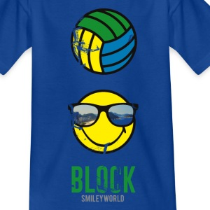 SmileyWorld BLOCK Volleyball - T-shirt tonåring
