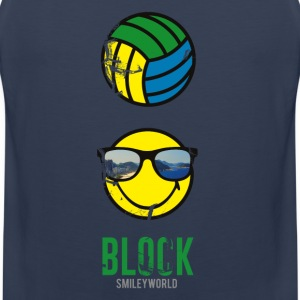SmileyWorld BLOCK Volleyball - Premium singlet for menn