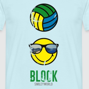 SmileyWorld BLOCK Volleyball - Herre-T-shirt