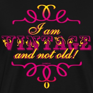 Vintage, not old - Magenta / Yellow T-Shirts - Men's Premium T-Shirt