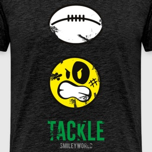 SmileyWorld TACKLE Rugby - Men's Premium T-Shirt