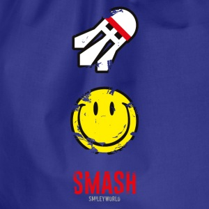 SmileyWorld SMASH that shuttlecock - Drawstring Bag