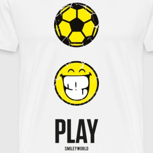 SmileyWorld PLAY Football - Herre premium T-shirt