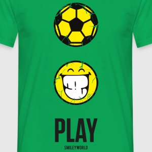 SmileyWorld PLAY Football - Mannen T-shirt
