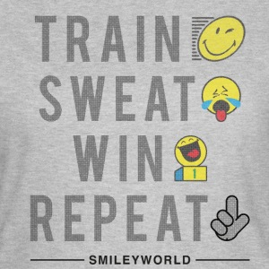 SmileyWorld Train Sweat Win Repeat - Vrouwen T-shirt