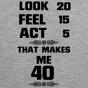 40 YEARS YOUNG (BIRTHDAY SHIRT!) Sports wear - Men's Premium Tank Top