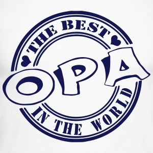 Opa The best in the world Langarmshirts - Männer Baseballshirt langarm