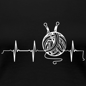 Heartbeat Knitting T-Shirts - Frauen Premium T-Shirt