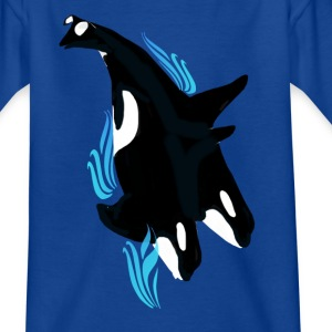 Killer Whale Dance - Kinder T-Shirt