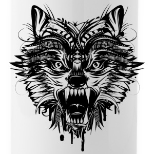 dangerous wolf  Mugs & Drinkware - Water Bottle