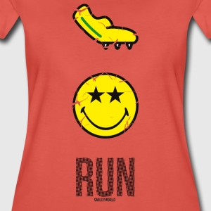 SmileyWorld RUN Fast - Premium-T-shirt dam