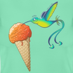 Summer Hummingbird Eating Ice Cream T-Shirts - Women's T-Shirt