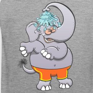 Cool elephant taking a shower Sports wear - Men's Premium Tank Top