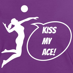 VolleyballFREAK Kiss my Ace! - Frauen Kontrast-T-Shirt