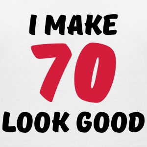 I make 70 look good T-Shirts - Women's V-Neck T-Shirt