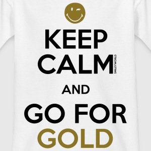 SmileyWorld Keep Calm and Go for Gold - Teenager T-shirt
