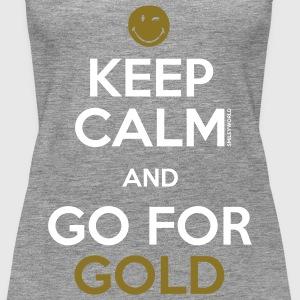 SmileyWorld Keep Calm and Go for Gold - Dame Premium tanktop