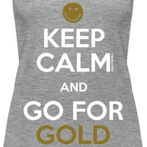 SmileyWorld Keep Calm and Go for Gold - Premium singlet for kvinner