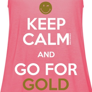 SmileyWorld Keep Calm and Go for Gold - Women's Tank Top by Bella