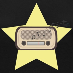 Retro Radio Long Sleeve Shirts - Women's Premium Longsleeve Shirt