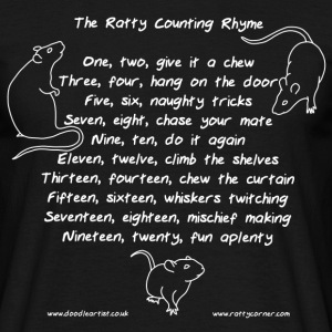 The ratty counting rhyme - Men's T-Shirt