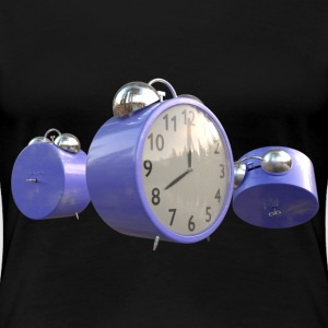 Blue Alarm Clocks, Warn T-Shirts - Women's Premium T-Shirt