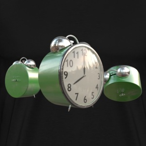 Green Worn Alarm Clock - Men's Premium T-Shirt