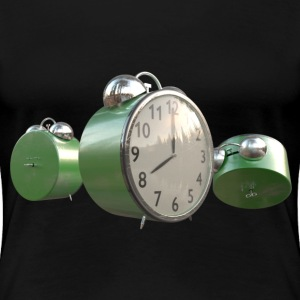 Green Worn Alarm Clock - Women's Premium T-Shirt