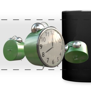 Green Worn Alarm Clock - Full Color Panoramic Mug