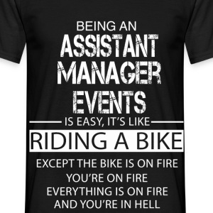 Assistant Manager Events T-Shirts - Men's T-Shirt